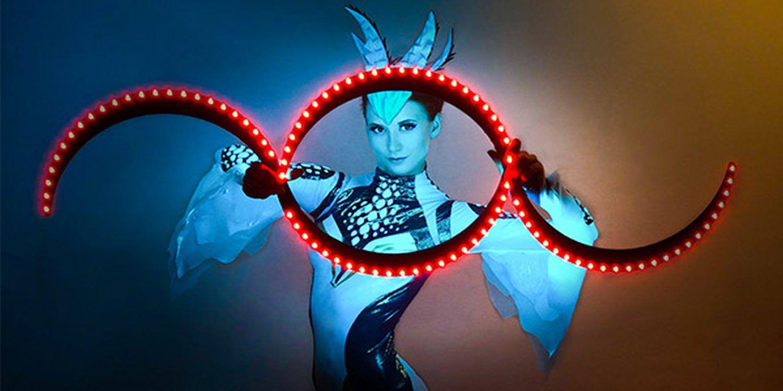 LED Dancer Brings Light And Technology Together At A Gala Dinner In Prague