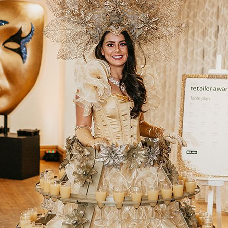 Candi Promotions - Champagne Dresses