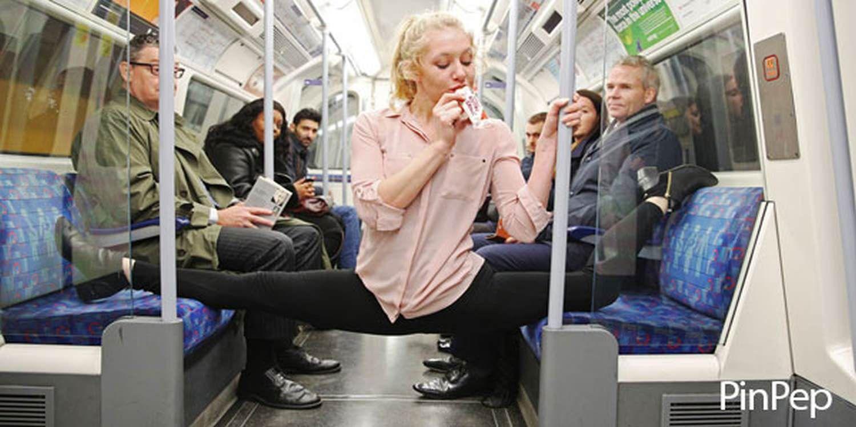 Acrobats Inject Energy Into London Commute