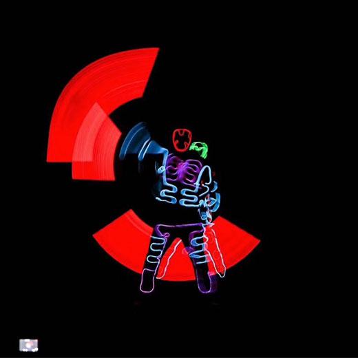 LED Tron dance - Shanghai (上海荧光舞)