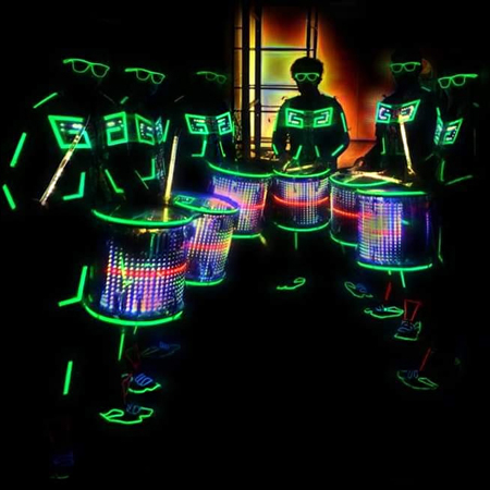 Skeleton Dance Crew - LED Drummers