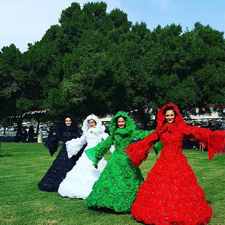 Aaliyah Art - UAE Flower Dresses