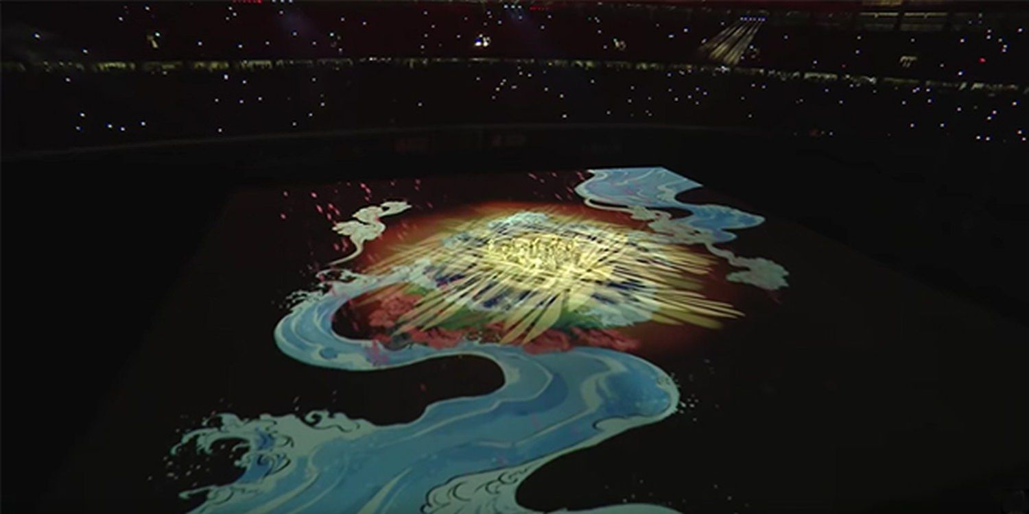 Video Mapping Dance And Combat Show At Rugby World Cup Opening Ceremony