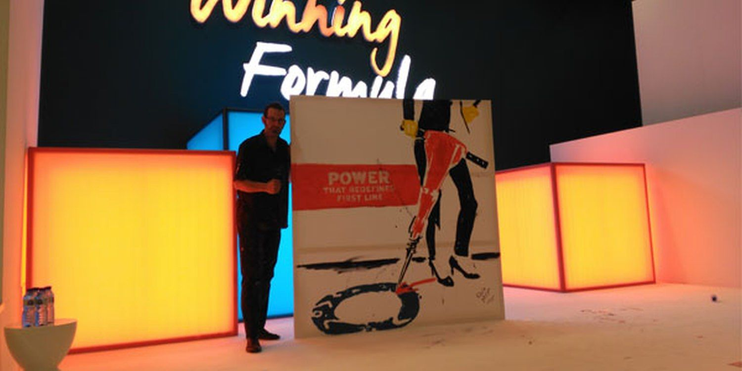 Speed Painting Success At Barcelona Corporate Event