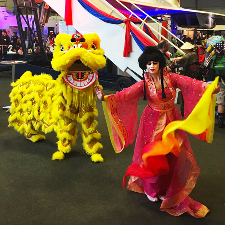 The Dance Mob - Oriental dancer and Chinese Lion