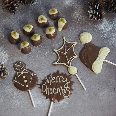 Oli The Choc - Virtual Christmas Truffles & Lollipops