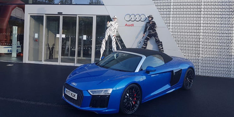 Black & White For Audi Showroom Opening
