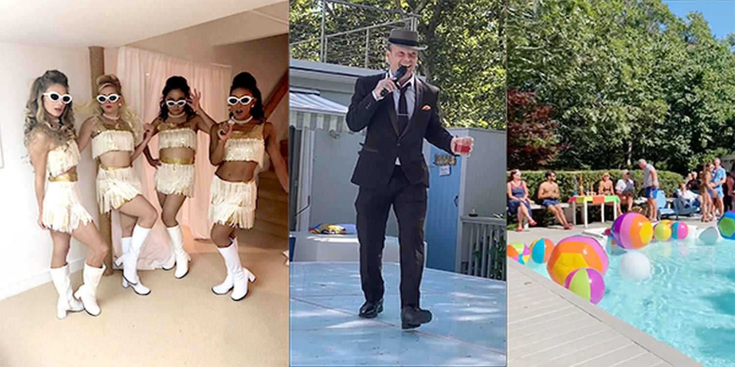 60s Themed Performers Make an Impression at Hamptons Birthday Party