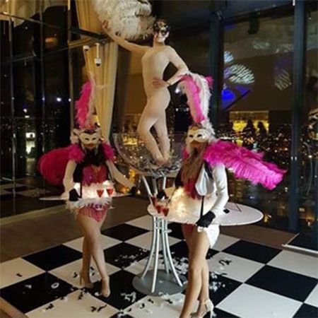 Pastiche - Living Canape and Champagne Tables
