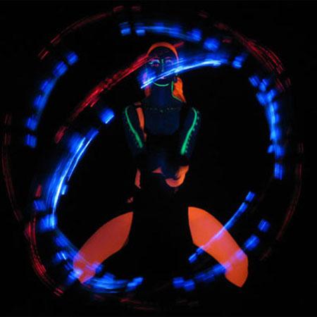 Flaming Rose - Glow Show