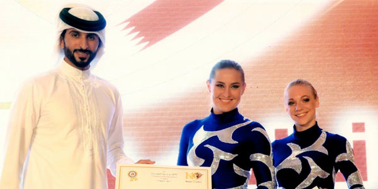 Acro Duo Receive Certificate Of Thanks At Nasser 10