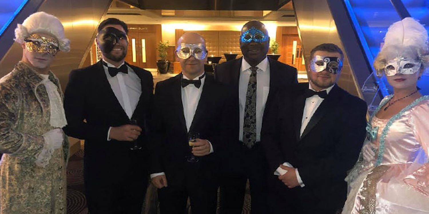 Venetian Themed Characters Host Financial Firm's Corporate Party In London