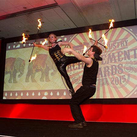 Pass Go Juggling - Fire Duo