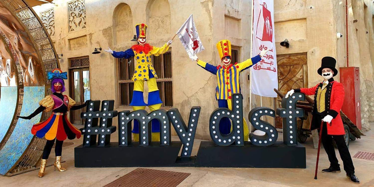 Circus Characters Delight Families at the Dubai Shopping Festival