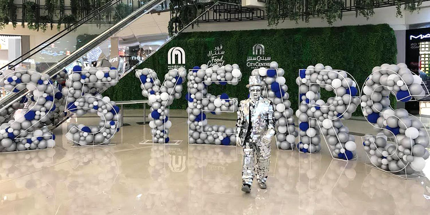 Shopping Mall Entertainment for Silver Anniversary Celebrations