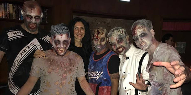 Zombies Invade Corporate Dinner In Berlin