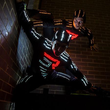 LED Parkour Performers