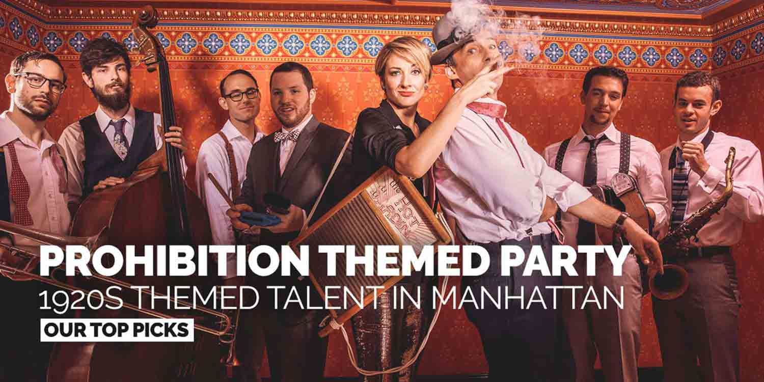 Planning a 1920s Themed Party in New York: Our Tips for a Prohibition Themed Party
