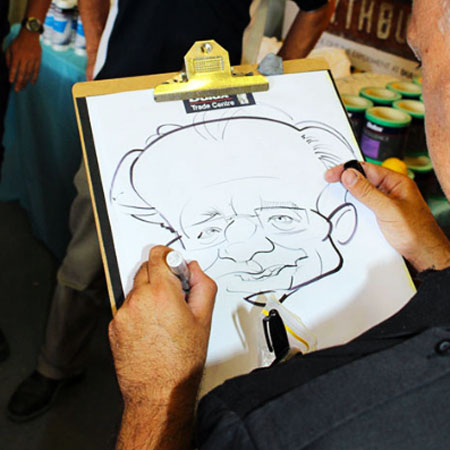 Anthony Pascoe Live Caricature